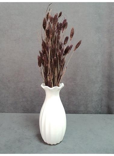 Kuru Çiçek Deposu Kuru Çiçek Kuş Otu Yapraklı 55-60 Cm Yeşil Mor